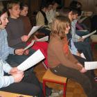 Pevske vaje mladinskega zbora